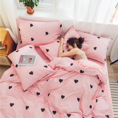 2019新款-棉加绒系列套件 1.2m-1.35m床(床单款三件套) 浅浅爱