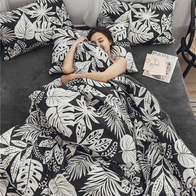 2019新款-棉加绒系列套件 1.2m-1.35m床(床单款三件套) 倾城花音