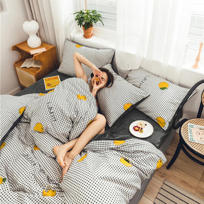 2019新款-棉加绒系列套件 1.2m-1.35m床(床单款三件套) 秋日私语