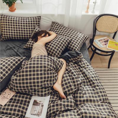 2019新款-棉加绒系列套件 1.2m-1.35m床(床单款三件套) 影初