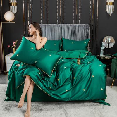 2020新款全棉60s長絨棉輕奢款系列四件套 1.2m床單款三件套 瑾色
