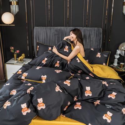 2020新款全棉60s長絨棉輕奢款系列四件套 1.2m床單款三件套 泰迪