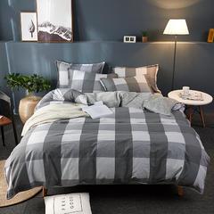 2018新款13372全棉+法莱绒四件套 标准1.5m-1.8m床 曼格尼