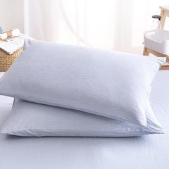水洗棉花型四件套(单品枕套) 单只 魅力淡蓝(信封枕套)