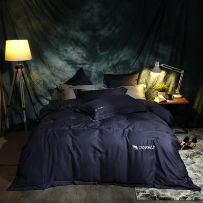 2019新款60天丝纯色刺绣四件套 抱枕55*55cm/对 西尔维雅