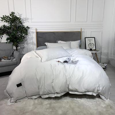 2019新款巴黎-双面水洗真丝四件套 1.2m(4英尺)床 珍珠白