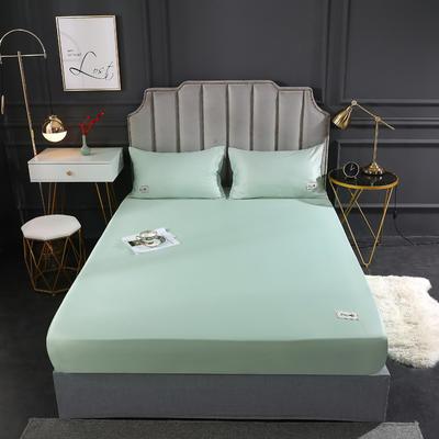 2020新款水洗真丝床笠三件套 180cmx200cm三件套 优雅绿