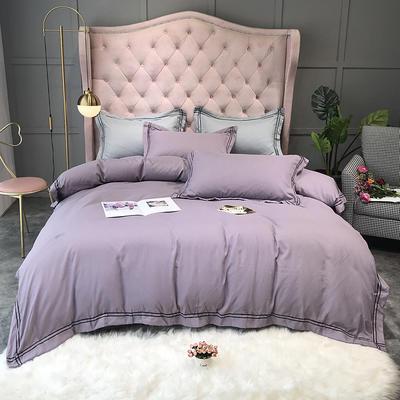 2020新款四季棉一木阳光四件套(实拍) 1.8m床单款四件套 中紫