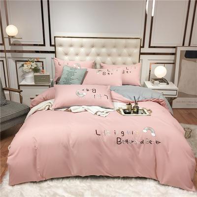 2020新款四季棉跑量款七彩梦四件套-影棚图 1.5m床单款四件套 粉紫
