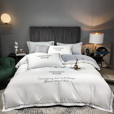 2020新款加厚四季棉四件套-巴黎 1.8m床单款四件套 珍珠白