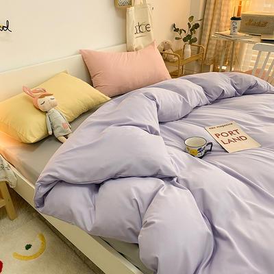 2020新款四季棉混搭风款四件套-梦娜 1.5m床单款四件套 阳光紫