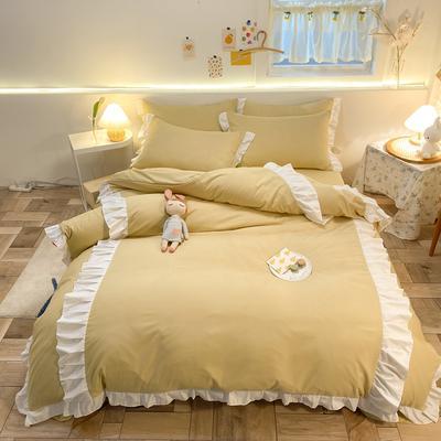 2021新款韩版加厚四季棉四件套-爱的幻想 1.5m床单款四件套 秋月黄