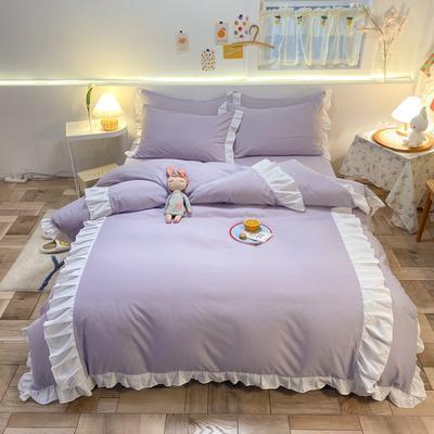 2021新款韩版加厚四季棉四件套-爱的幻想 1.5m床单款四件套 阳光紫