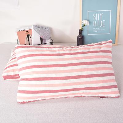 天然乳胶枕泰国碎乳胶颗粒填充记忆枕芯水洗棉全棉枕头 红色