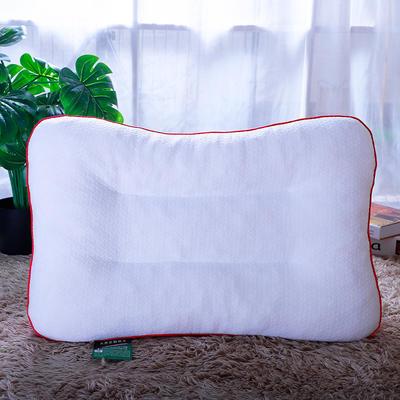 针织棉乳胶颗粒枕头情侣款乳胶枕头 玫红色40*60