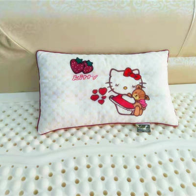 儿童乳胶枕头 水立方印花乳胶枕 30*50
