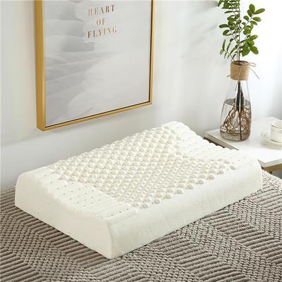 天然乳胶枕 泰国曲线颗粒乳胶枕头 裸芯+内套+外套 30*50