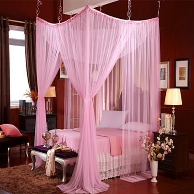 艾晶美 吊顶蚊帐  圆顶蚊帐 欧式风情多变蚊帐 所有床通用 粉色
