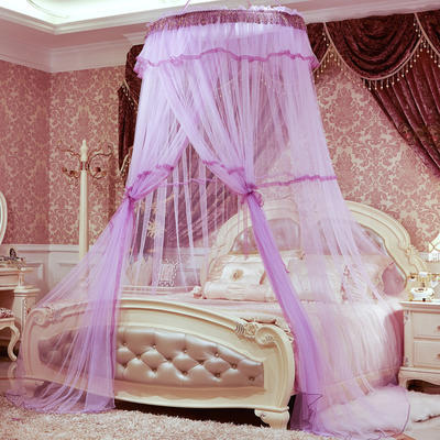 一米圆顶蚊帐 所有床通用 紫