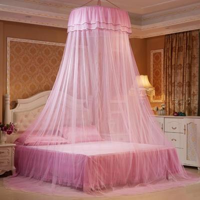 艾晶美蚊帐 吊顶蚊帐小清新圆顶蚊帐 新款 厂家 1.2-2.0米床通用 粉色