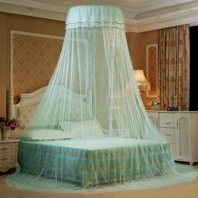 艾晶美蚊帐 吊顶蚊帐小清新圆顶蚊帐 新款 厂家 1.2-2.0米床通用 水蓝