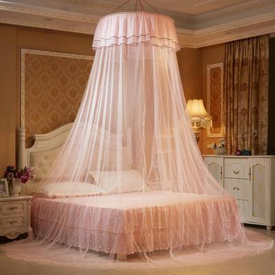 艾晶美蚊帐 吊顶蚊帐小清新圆顶蚊帐 新款 厂家 1.2-2.0米床通用 玉色