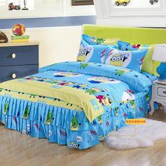 床裙四件套 1.5米床 小黄人