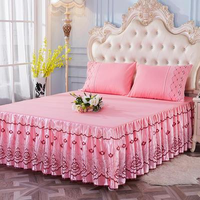 艾晶美2018新款蕾丝床裙三件套单床裙 夏季床裙 爆款新品 枕套/对可单卖 温柔玉