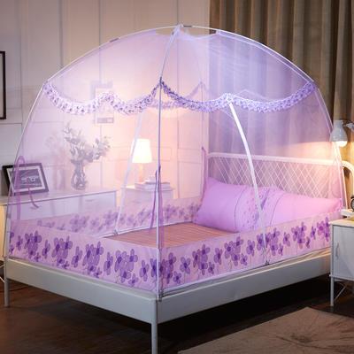 2019蚊帐蒙古包蚊帐 1.2  1.5  1.8米 新款 1.2米 紫色