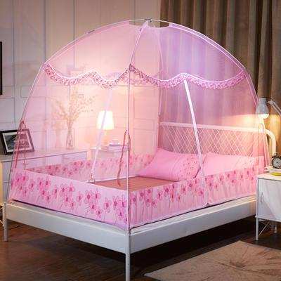 2019蚊帐蒙古包蚊帐 1.2  1.5  1.8米 新款 1.2米 粉色