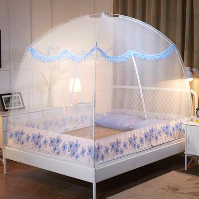2019蚊帐蒙古包蚊帐 1.2  1.5  1.8米 新款 1.5米 白色