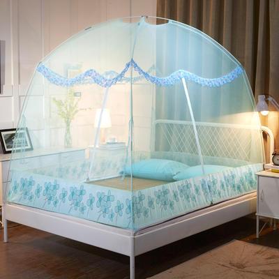 2019蚊帐蒙古包蚊帐 1.2  1.5  1.8米 新款 1.2米 蓝色