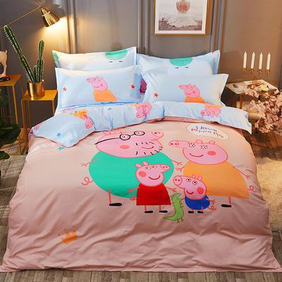 2018冬款大版花四件套 1.5m(5英尺)床 快乐的小猪
