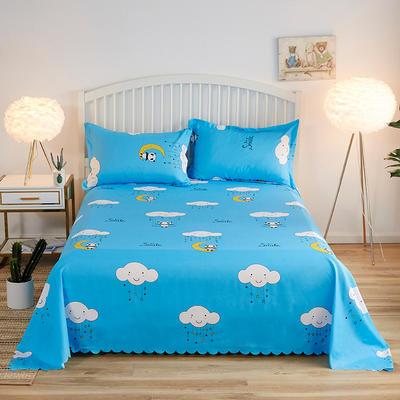 2019新款加厚磨毛印花单床单 160cmx230cm 快乐的熊猫