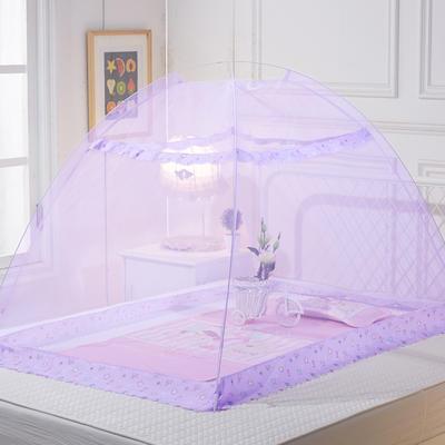2020新款宝宝蚊帐婴儿蚊帐儿童蚊帐 长 140cm宽80cm高度110cm 紫色