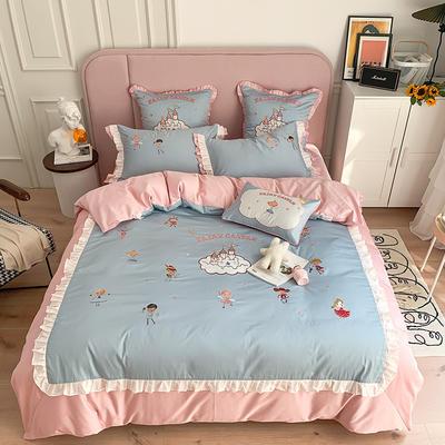 长绒棉四件套-童话王国 1.5m(5英尺)床 童话王国