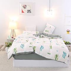 MUJI良品印花水洗棉四件套 2.0m(6.6英尺)床 玉芙蓉