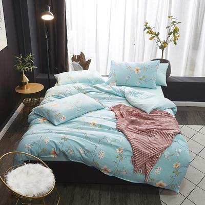 2020新款-网红ing 水洗棉四件套 三件套1.2m(4英尺)床 空谷幽兰