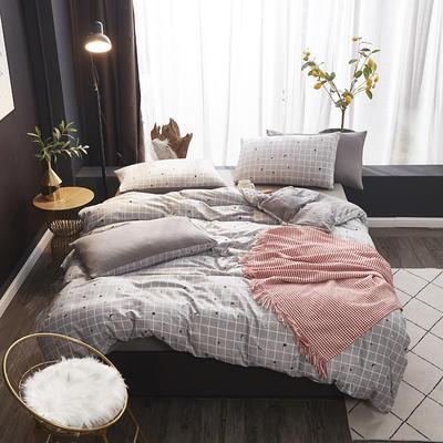 2019新款-网红ing 水洗棉四件套 三件套1.2m(4英尺)床 星月神话