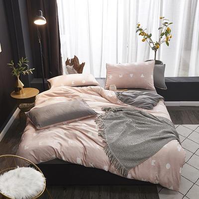 2019新款-网红ing 水洗棉四件套 三件套1.2m(4英尺)床 幸福几何