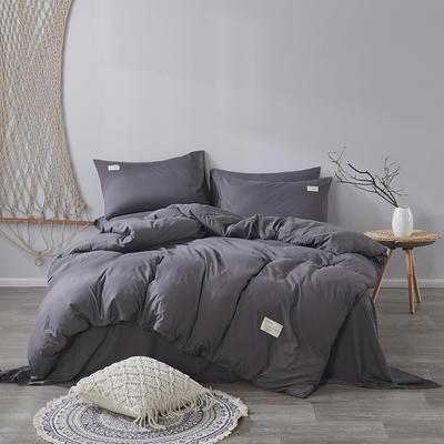 2020新款-美棉四件套 床单款四件套0.9m床-1.2m床 高级灰