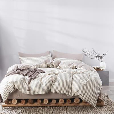 2020新款-美棉四件套 床单款四件套1.5m(5英尺)床 米小格