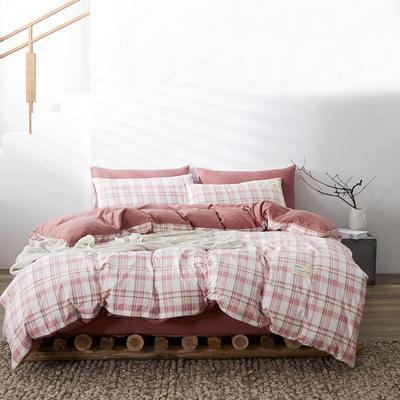 2020新款-美棉四件套 床单款四件套0.9m床-1.2m床 草莓格