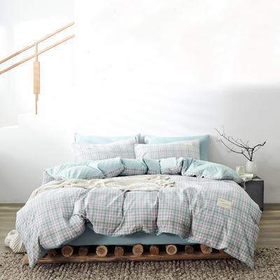 2020新款-美棉四件套 床单款四件套0.9m床-1.2m床 青柠格
