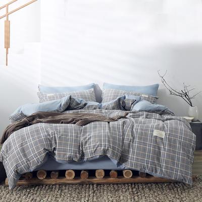 2020新款-美棉四件套 床单款四件套1.5m(5英尺)床 桑葚格