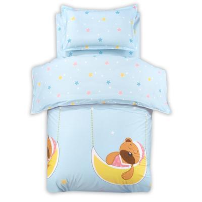 幼儿园六套件13372(聚酯纤维被芯) 120*150cm 晚安熊-蓝