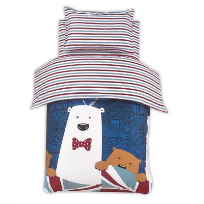 幼儿园六套件13372(聚酯纤维被芯) 120*150cm 晚安熊绅士