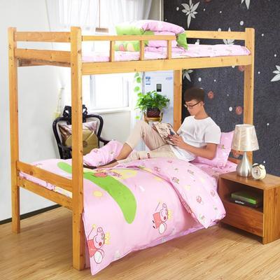 家纺-12868全棉斜纹三件套 小号(1.35m床及以下) 小猪佩奇-粉