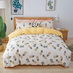 2018新款-棉加绒四件套 1.2m(4英尺)床 菠萝蜜