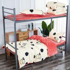 2018新款-棉+绒床单三件套 1.2m(4英尺)床 爱的蒙牛